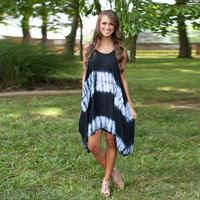 Sleeveless Tie Dye Asymmetrical Dress