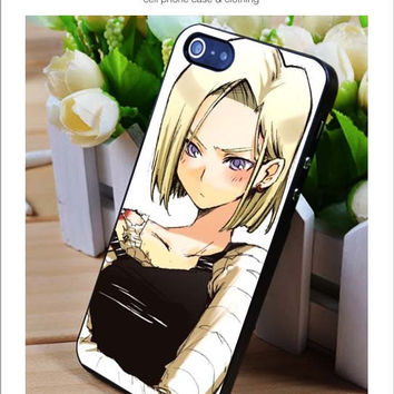 Beautifull android 18 iPhone for 4 5 5c 6 Plus Case, Samsung Galaxy for S3 S4 S5 Note 3 4 Case, iPod for 4 5 Case, HtC One for M7 M8 and Nexus Case