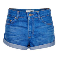 Petite MOTO High Wiasted Denim Shorts - New In This Week - New In - Topshop USA