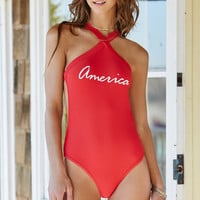 LA Hearts Crisscross Neck One Piece Swimsuit at PacSun.com