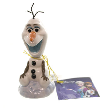 Disney OLAF BOBBLE FIGURINE Ceramic Disney Frozen Elsa Anna
