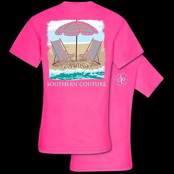 Southern Couture Unwind Beach Chairs Comfort Colors T-Shirt