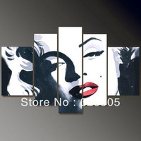 5 piece canvas wall art large Abstract modern marilyn monroe canvas art wall deco oil painting on canvas framed free shipping
