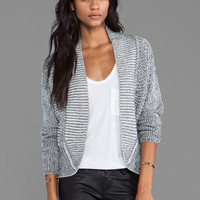 DUFFY Aerial Perspective Cardigan in Cloud/Black from REVOLVEclothing.com