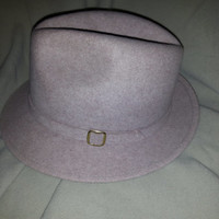Vintage Hipster Microfelt Quality Wool Fedora Hat - Size Small -