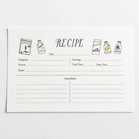 Baking Ingredients Themed Recipe Cards