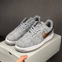 Nike Air Force 1 Grey Low Sneaker - Best Deal Online