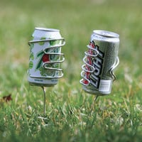 Handy Holder Stainless Steel Beverage Can Holder for Outdoor Dining