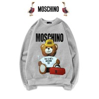 Moschino Cute Bear Print Top Sweater Pullover1