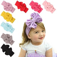 different wear ways baby girl headband bow Big Bowknot Children Kids Head Wraps Accessories bandeau cheveux Christmas