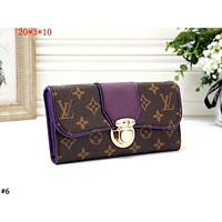 LV 2019 new female button flip clap bag purse long card holder #6