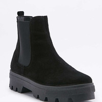 Emma Black Chelsea Cleat Ankle Boots - Urban Outfitters