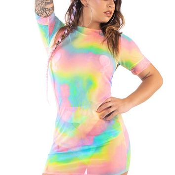 Rainbow Aura Tee Dress