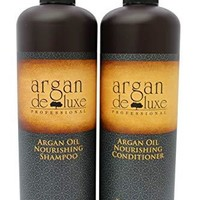 Moroccan Argan Oil Shampoo and Conditioner Set (2 x 33oz.) Ultra Hydrating & Moisturizing, Salon Quality for Men & Women All Hair Types
