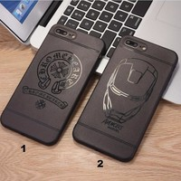 Fashion Chrome Iron Man mobile phone case for iPhone X 7 7plus 8 8plus iPhone6 6s plus -171211