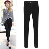Skinny Pleated A-Line Jeggings