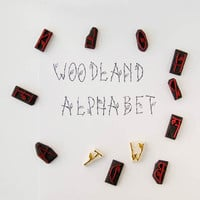 Woodland Alphabet stamps set - letters, numbers and signs stamps - single initial letter carved stamps