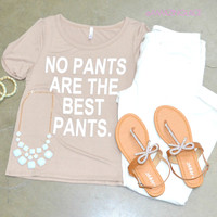 SZ LARGE No Pants Are The Best Pants Graphic Tee