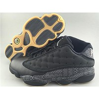 Air Jordan  13 black/grey Basketball Shoes 41-47