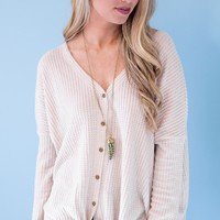 Shelby Ribbed Knot Top