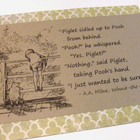 Sure of You - Winnie the Pooh Quote - Classic Piglet and Pooh