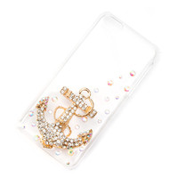 Crystal Bling Anchor Cover for iPhone 5c