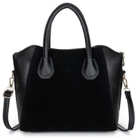 Patchwork Faux Leather Tote Bag
