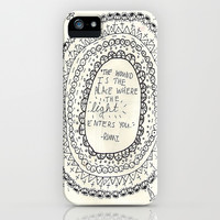 Rumi iPhone & iPod Case by Allmymetaphors