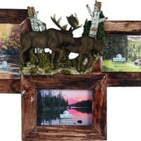 3 Picture Firwood Moose Frame