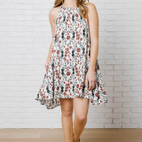 Dorian Floral Trapeze Dress-FINAL SALE