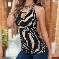 Sleeveless Tank Top Sexy Top Cotton Printing Summer Cool Tees Fashion Casual T Shirt [8833927244]