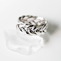 925 thick braided ring