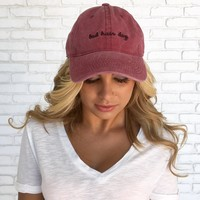 Bad Hair Day Hat in Mauve