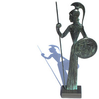 Goddess Athena , Minerva Greek Bronze Statue in Greek Mythology