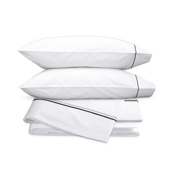 Essex Charcoal Embroidered Hotel Sheet Set by Matouk