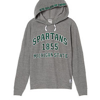 Michigan State University Crossover Pullover Hoodie - PINK - Victoria's Secret