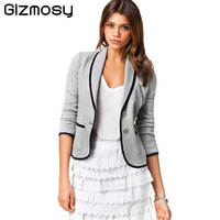 2017 Summer Women blazer Elegant Office Blazer Coat Outwear Female Feminino Blazer femme Plus Size Jacket femme blazer BN962