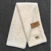 '' UGG '' Autumn Winter Woman Men Scarf Scarves Heat Preservation Thick Scarf Accessories White