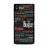 the beatles typography song lyric Sony Xperia Z3 Case