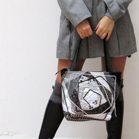 OOAK Quilted Bag MONOCHROME by katrinshine on Etsy