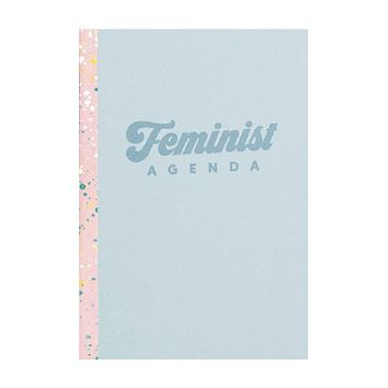 """Feminist Agenda Notebook in Blue 