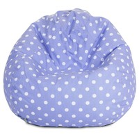 Lavender Polka Dots Small Classic Bean Bag