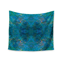 "Nikposium ""Clearwater"" Blue Teal Wall Tapestry"