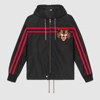 Gucci Nylon windbreaker with Angry Cat appliqué