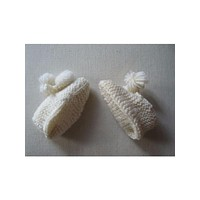 1960's Vintage Crochet Knit Baby Booties