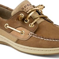 Sperry Top-Sider Ivyfish Metallic Linen 3-Eye Boat Shoe Cognac/Sand, Size 12M  Women's Shoes
