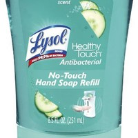 Lysol No-Touch Automatic Hand Soap, Hydrating Cucumber & Watermelon, 1 Refill, 8.5 Ounce (Pack of 2) (Packaging May Vary)
