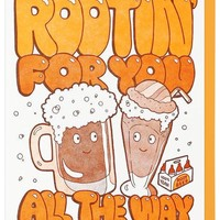 Rootin' for You All the Way Card - LAST ONE!