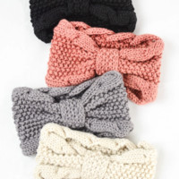 Winter Headband W/ Knotted Detail