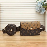 Louis Vuitton LV classic LV letter printed belt bag ladies fashion one-shoulder messenger bag